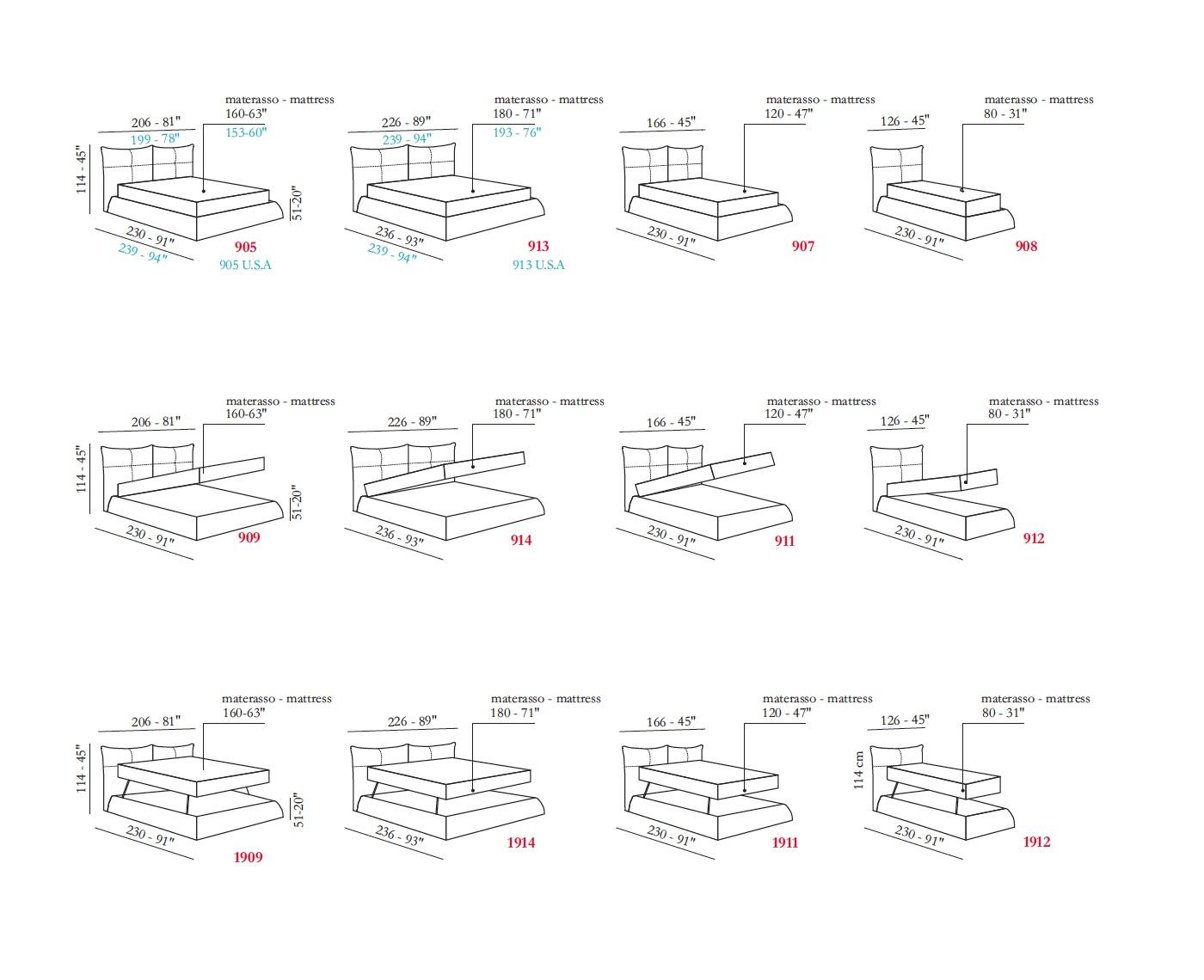 картинка Кровать Lotus Max Divani | Итальянские диваны ручной работы