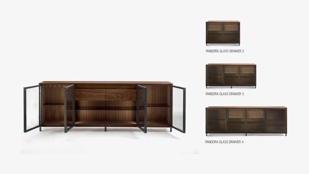 Многофункциональный шкаф PANDORA GLASS