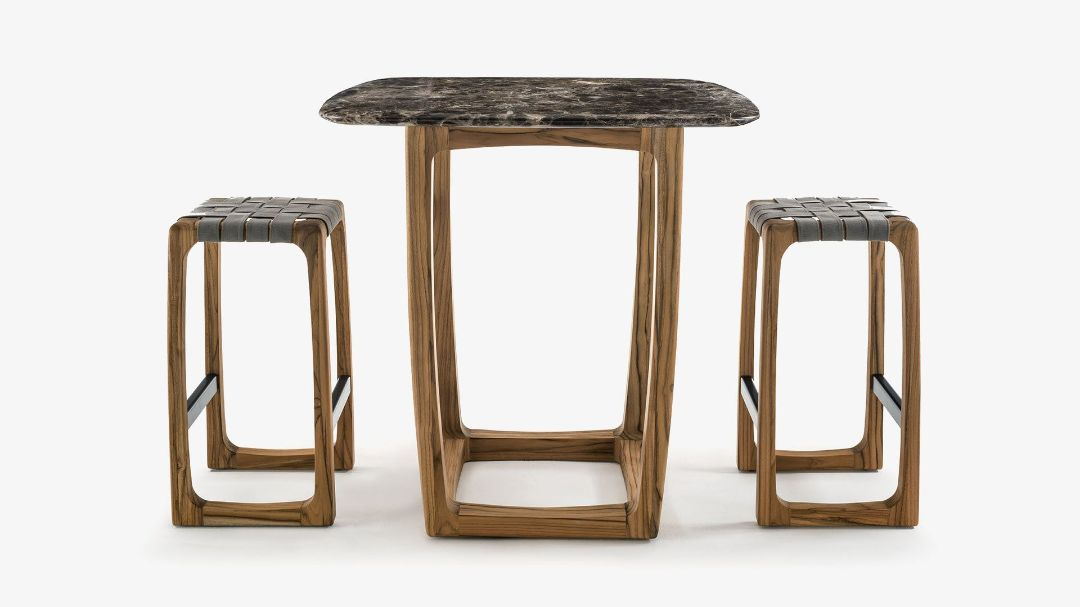 Барный стол BUNGALOW BAR TABLE MARBLE