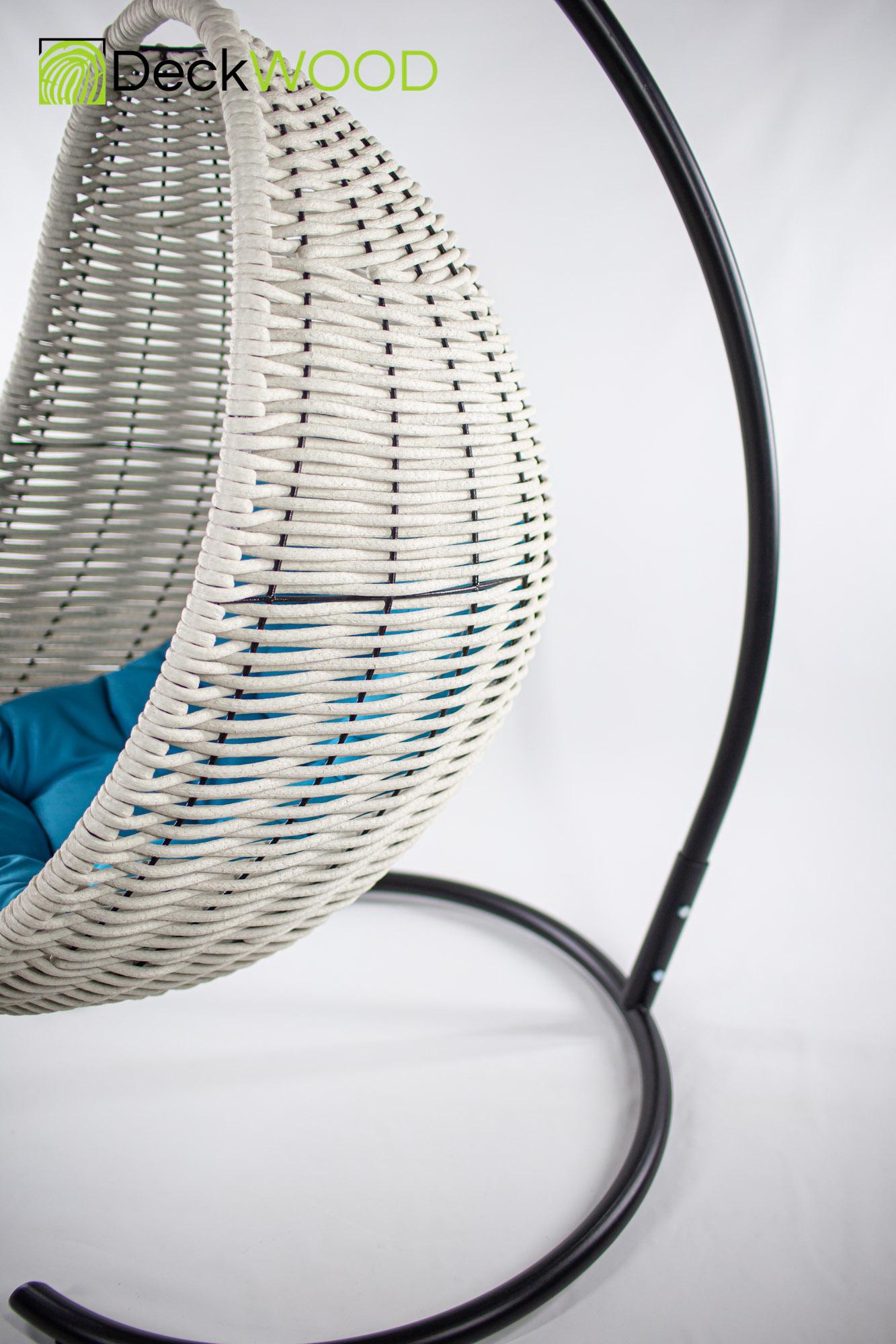 Плетеное подвесное кресло-кокон