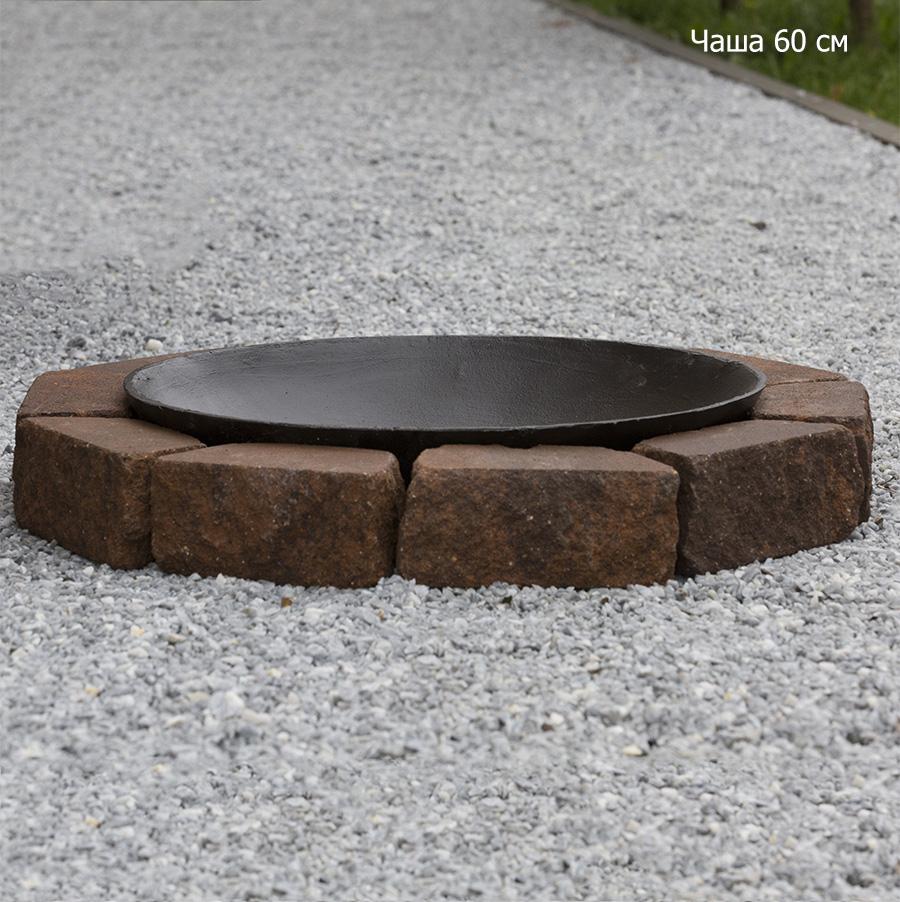 Чаша на основании из состаренного бетона, 1 уровень кладки