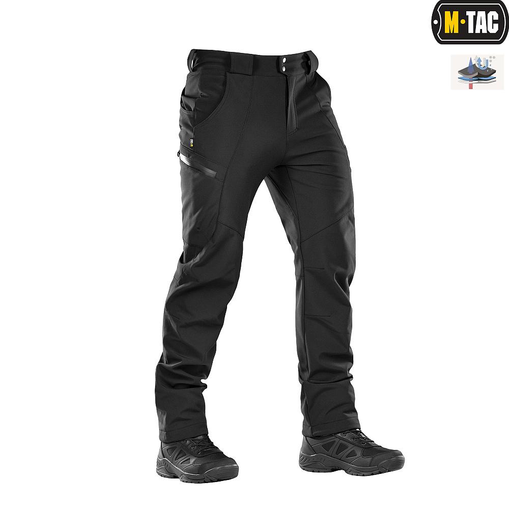 картинка M-TAC БРЮКИ SOFT SHELL WINTER BLACK от магазина Одежда+