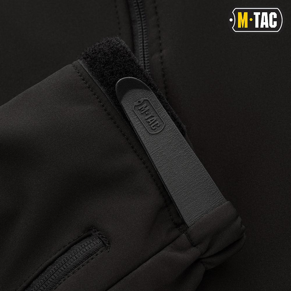 картинка M-TAC КУРТКА SOFT SHELL С ПОДСТЕЖКОЙ BLACK от магазина Одежда+