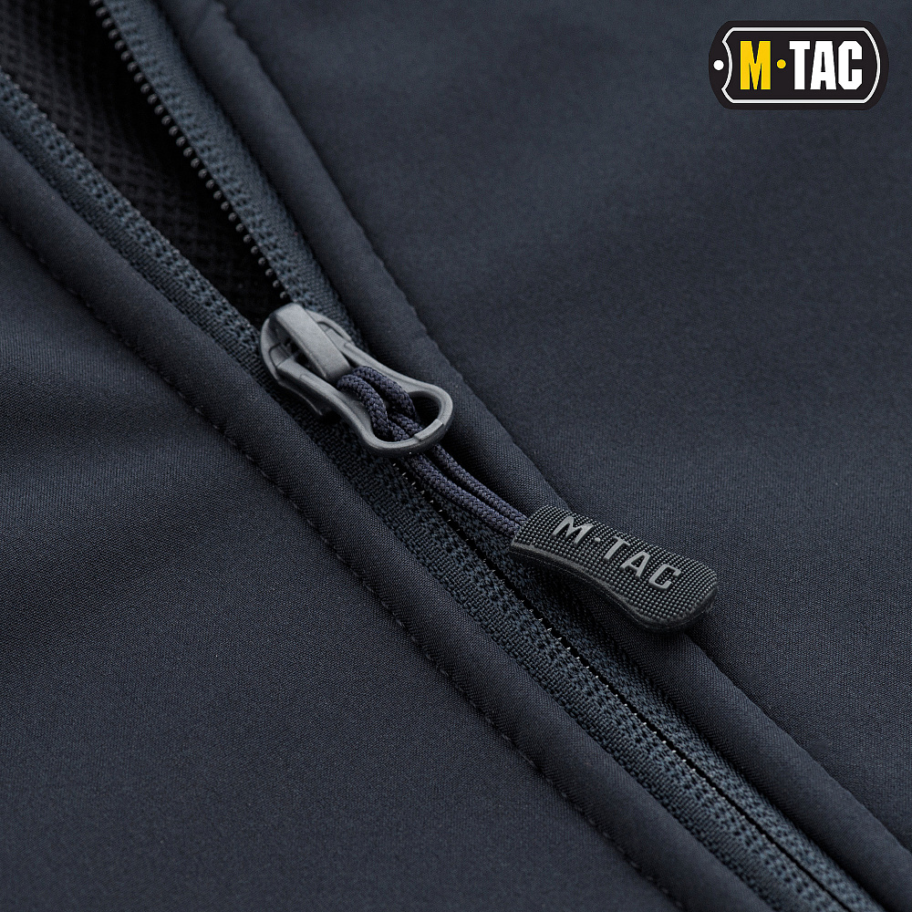 картинка M-TAC КУРТКА SOFT SHELL С ПОДСТЕЖКОЙ DARK NAVY BLUE от магазина Одежда+