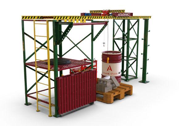 Стенд - тренажер для стропальных и верхолазных работ