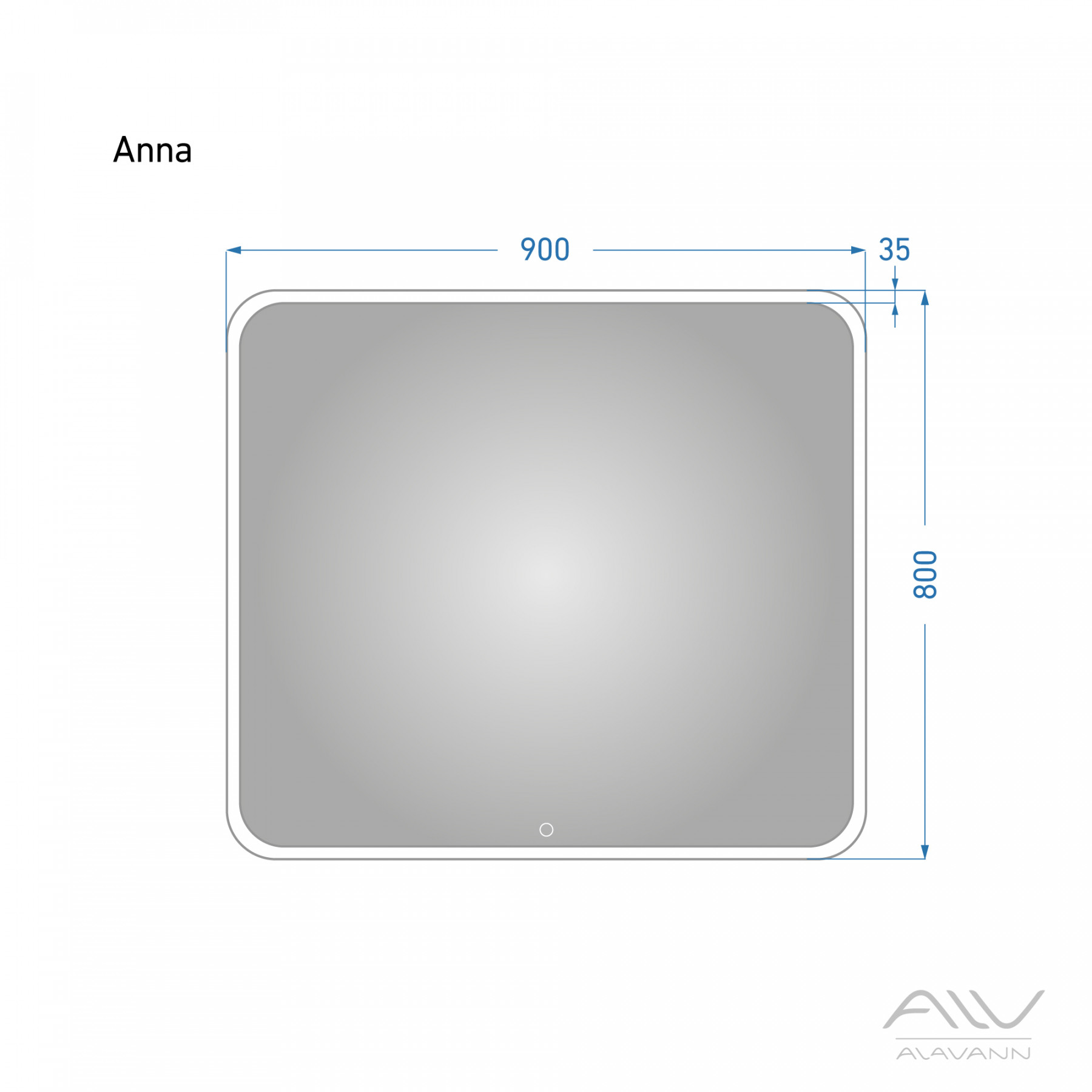 Зеркало с подсветкой Alavann Anna 90X80