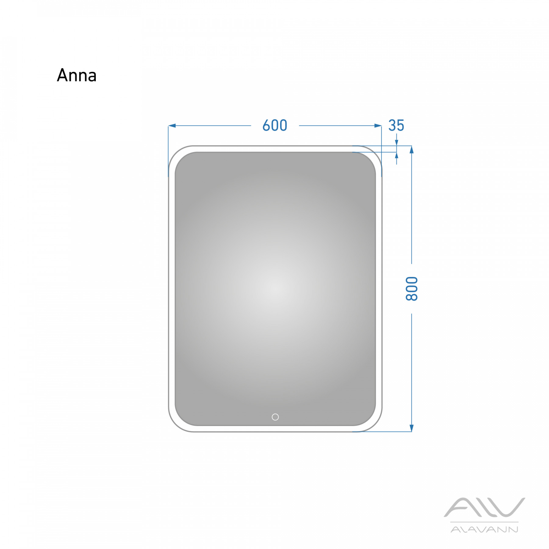 Зеркало с подсветкой Alavann Anna 60X80
