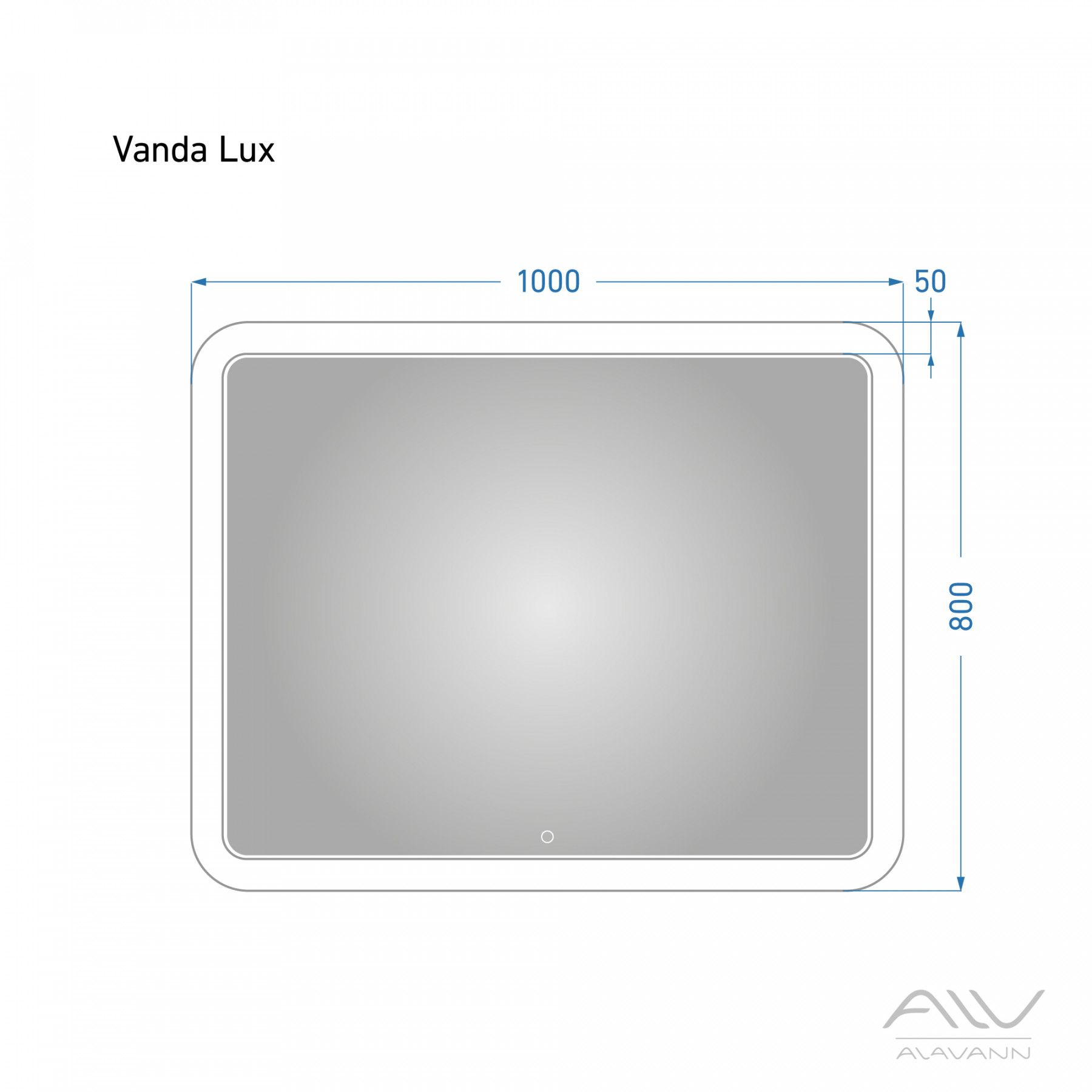 Зеркало с подсветкой Alavann Vanda Lux 100X80h