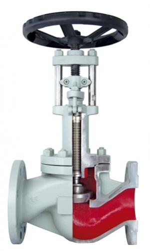 картинка Вентиль сильфонный стальной BV25065 HP SP PN40 с удлиненным штоком от магазина SteamPark+