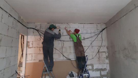 монтаж электрики в квартире скрытым способом