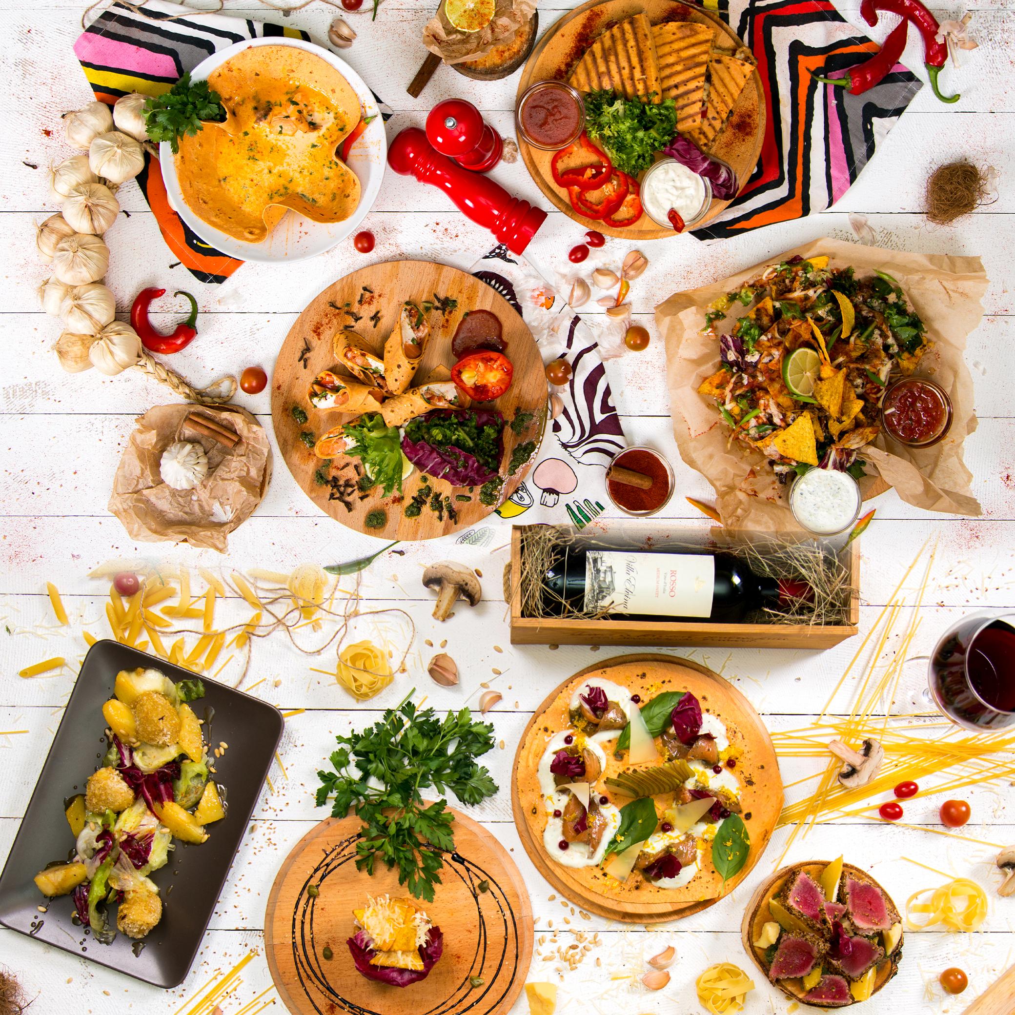 Услуги food фото съемки композиций