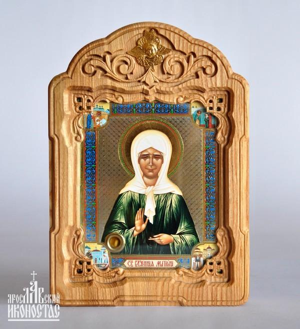 картинка Икона с частицей гроба Св. Блаж.Матроны 110х130                                                          в резном окладе от магазина мастерской Ярославский иконостас