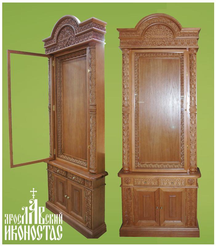 картинка Домашний иконостас с открыв.дверцей прямой от магазина мастерской Ярославский иконостас