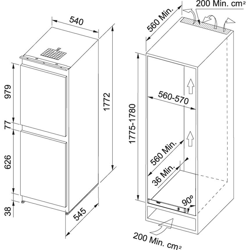 картинка Холодильник FRANKE FCB 320 NR ENF V A ++